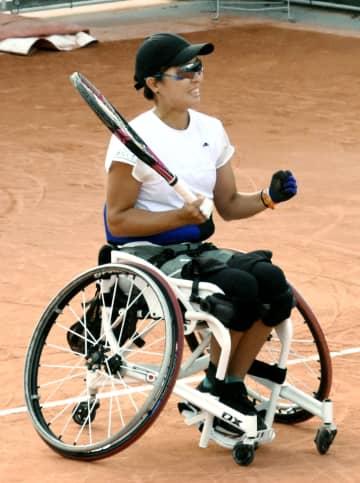 テニス、大谷と上地が決勝進出 全仏オープン車いすの部 画像1