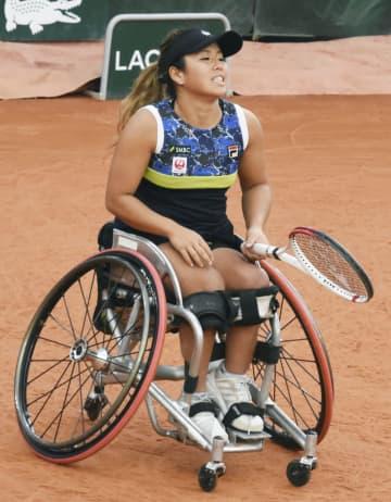 車いすテニス、上地は2冠ならず 全仏オープン、女子ダブルス惜敗 画像1