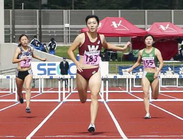 女子400m障害、小山が4連覇 関東学生陸上第3日 画像1