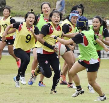 ラグビー7人制女子、練習を公開 日本代表候補が合宿 画像1