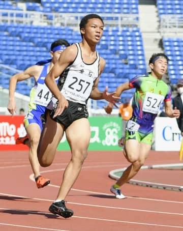 男子200メートルは津田が優勝 全国中学生陸上 画像1