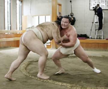 大相撲、異例の合同稽古始まる 白鵬や正代ら9関取が参加 画像1