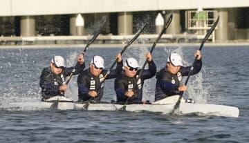 カヌー五輪会場で代表が練習公開 松下桃太郎「ベストを出せる」 画像1