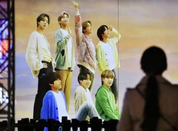 韓国BTS株、大幅下落続く 上場日の過熱一転、ほぼ半値に 画像1