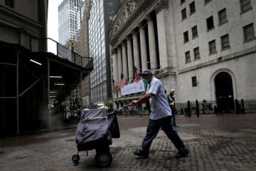 NY株続落、222ドル安 コロナ懸念、ITは上昇 画像1