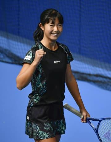 テニス18歳佐藤、初の4強入り 三菱全日本第3日、単準々決勝 画像1