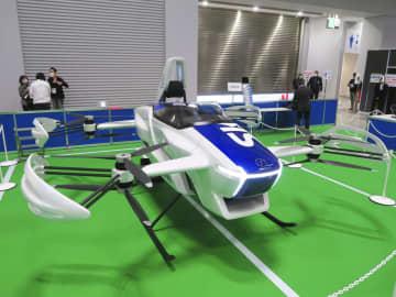 「空飛ぶ車」を一般公開 有人試験機、東京都内で 画像1