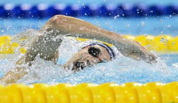 竹田、1500m自由形で大会新 競泳の日本社会人選手権 画像1