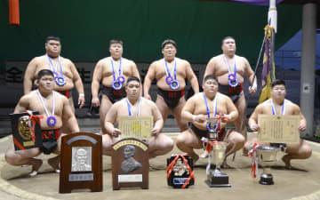 日大V2、30度目優勝 全国学生相撲選手権 画像1