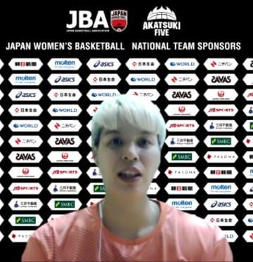 女子バスケ代表候補ら抱負語る 渡嘉敷来夢「日本の柱に」 画像1