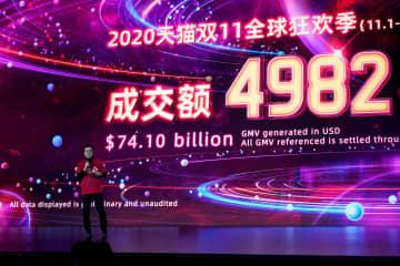 アリババ特売「7兆9千億円」 中国「独身の日」 画像1