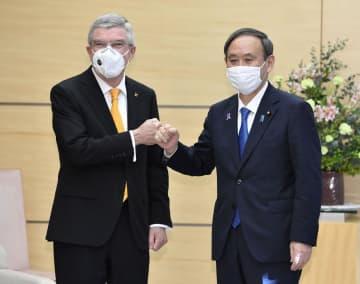 安全に東京五輪実現へ緊密連携 首相、IOC会長と会談 画像1