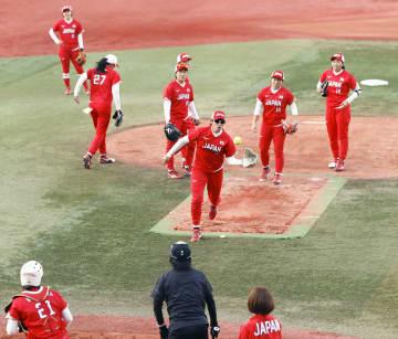ソフトボール日本代表が活動再開 コロナ禍で今年2月以来 画像1