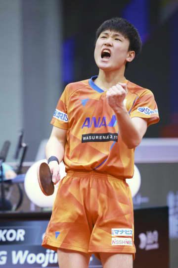 張本智和、初戦は世界18位と 卓球ファイナル、19日開幕 画像1