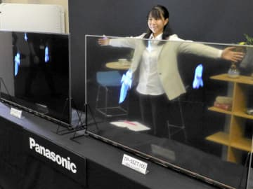 パナソニックが透明ディスプレー 有機EL、日本勢初の12月発売 画像1