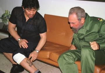 マラドーナ氏、中南米左派と交流 フィデル・カストロと同じ命日 画像1