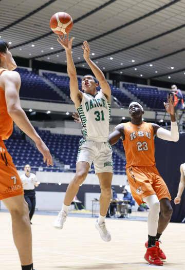 バスケ、福岡第一高が2回戦へ 全日本選手権1次ラウンド開幕 画像1
