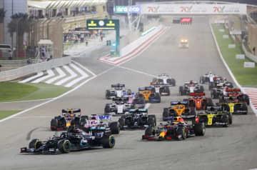 F1、スタート直後の事故で中断 バーレーンGP決勝 画像1