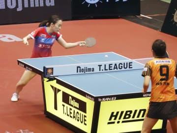 卓球、神奈川3勝目挙げ石川勝利 Tリーグ女子2試合 画像1