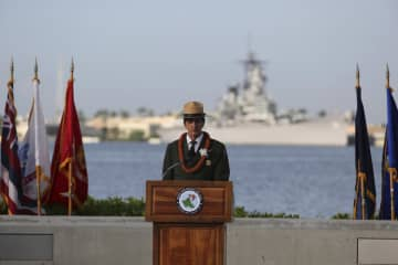 真珠湾攻撃から79年で追悼式典 新型コロナ受け少人数開催 画像1