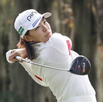 渋野日向子、1打差で首位守る 全米女子オープンゴルフ第3日 画像1