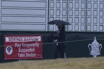 全米女子ゴルフ、最終日は順延 悪天候で14日に、渋野が首位 画像1