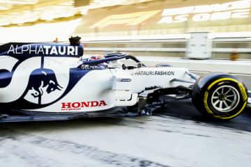 角田裕毅がF1テスト走行 Aホンダのマシンで 画像1