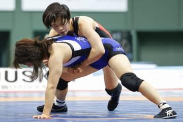 全日本レスリング、南條早映V2 女子57キロ級 画像1