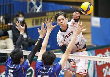 バレーボール、ジェイテクト初V 全日本男子 画像1