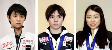 羽生、宇野、紀平ら世界選手権へ フィギュア、来年3月 画像1