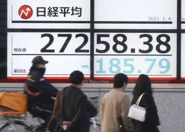 東証続落、185円安 宣言発令検討、経済停滞に懸念 画像1