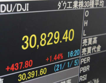 NY株続伸、最高値更新 次期政権の経済対策に期待 画像1