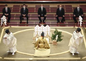 初日を控え、土俵祭り実施 厳戒態勢の大相撲初場所 画像1