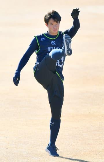 木沢投手「いよいよ始まった」 ヤクルトのドラ1、新人練習開始 画像1