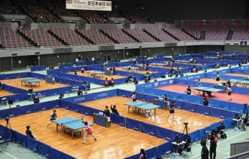 全日本卓球、無観客で開幕 ジュニア単1回戦を実施 画像1