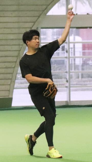 中日・大野雄、序盤から好投誓う 自主練習を公開、昨季の沢村賞 画像1