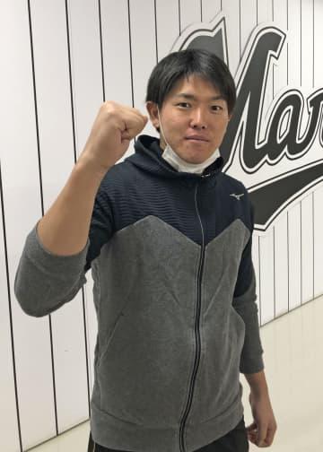 ロッテの安田、20本塁打に挑戦 打率3割も、柳田に学ぶ 画像1
