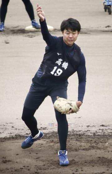 高橋宏投手、ブルペン入りへ意欲 中日の新人合同練習が終了 画像1