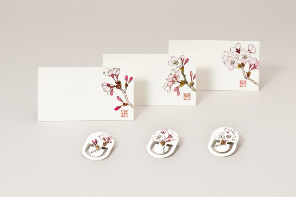 MESSAGE CARD&PAPER CLIP桜