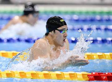 競泳の瀬戸大也、復帰戦で優勝 不倫問題での活動停止明け 画像1