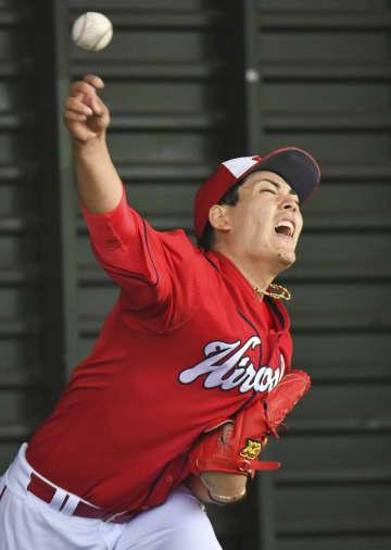 広島の九里、347球投げ込む プロ入り後では最多 画像1