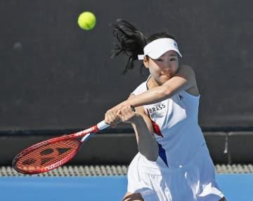 テニス日比野、2年連続初戦突破 全豪オープン第2日 画像1