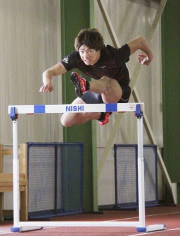 110m障害の金井、練習を公開 「悔いなく終わりたい」 画像1