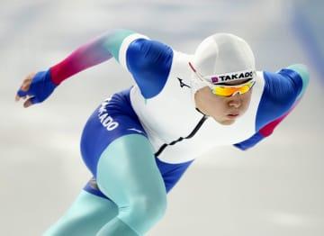 スケート男子500m、村上1位 スピード非公式記録会、青森 画像1