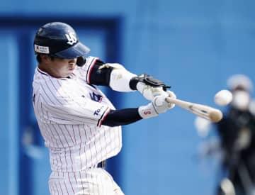 ヤクルト山田が特大2ラン 巨人との練習試合で 画像1