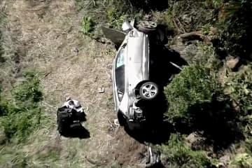 タイガー・ウッズ選手事故で重傷 車大破、脚を複雑骨折 画像1