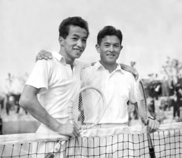 テニス覇者の宮城淳さんが死去 1955年全米男子ダブルス 画像1