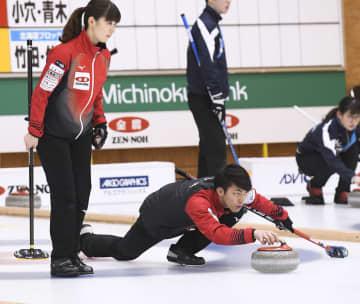 カーリング松村、谷田組は4連勝 混合ダブルス 画像1
