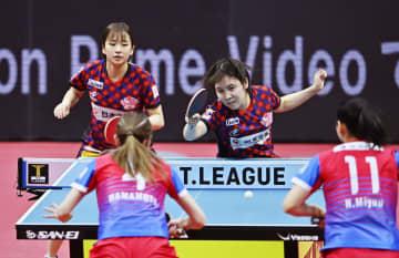 Tリーグ女子、日本生命が3連覇 卓球、プレーオフ・ファイナル 画像1