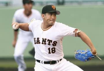 巨人の菅野、初実戦で2回無失点 今季はプレート位置を変更 画像1